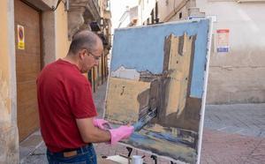 30 artistas del pincel concurren al VII Certamen Internacional de Dibujo y Pintura al aire libre 'Bufón Calabacillas'