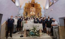 La plantilla del Coria, Directiva y Cuerpo Técnico pidieron a la Virgen que les protegiera ante la nueva temporada