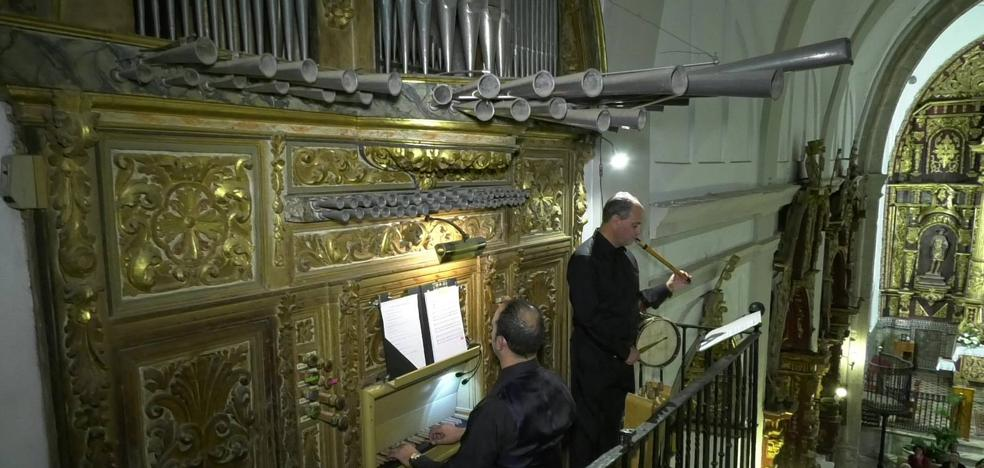 Interesante concierto de órgano, flauta y tamboril