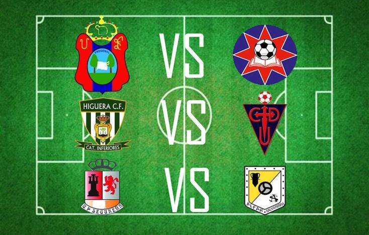 La UD Frexnense se enfrentará con la UC La estrella, el Higuera CF con el CD Usagre y la UP Segureña contra el CD Alfar