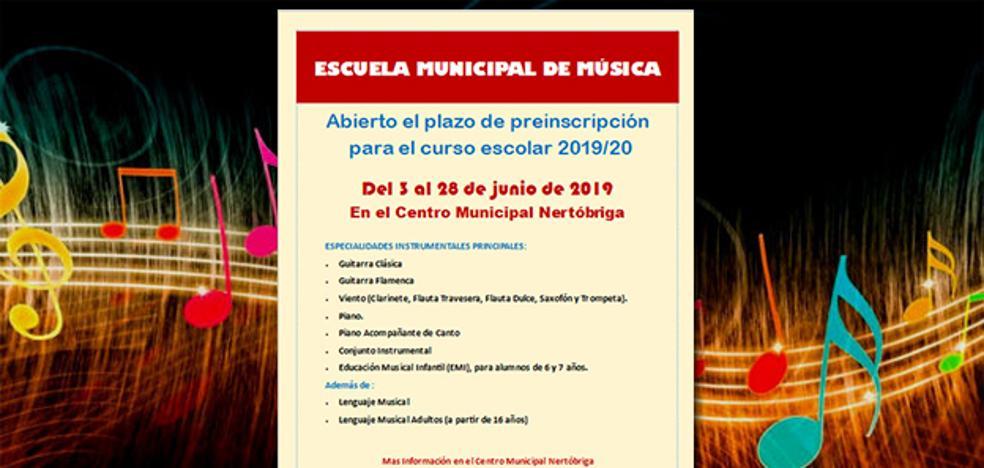 Abiertas las preinscripciones para la escuela de música de Fregenal