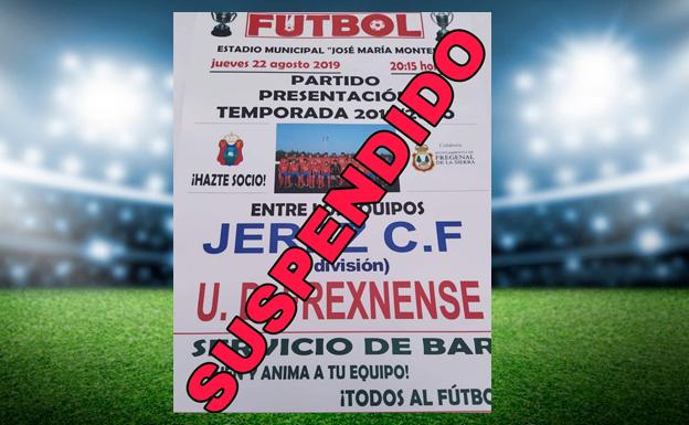 Suspendido el partido previsto para hoy, Frexnense - Jerez