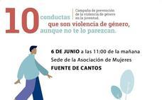 El 6 de junio, actividad para prevenir la violencia de género entre la juventud