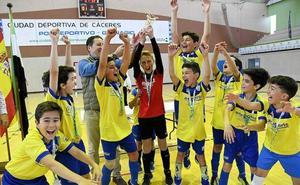 El equipo alevín de fútbol sala de la AMPA 'El Llano' se proclama campeón de Extremadura