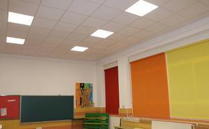Luces led en las aulas de Infantil del colegio San Gregorio