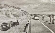 Mueren dos jóvenes de 22 y 23 años en un accidente en la A-5, cerca de Torrefresneda