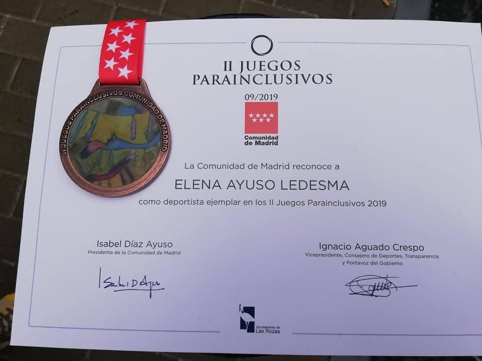 La herrereña Elena Ayuso logra medalla de bronce en los II Juegos Parainclusivos de Madrid.