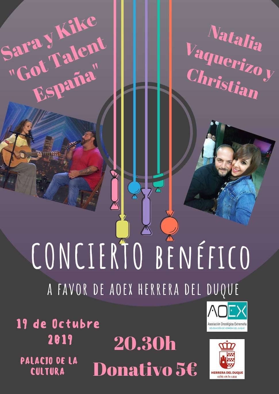 La delegación de Aoex Herrera del Duque organiza un concierto solidario para conmemorar el Día Mundial contra el Cáncer de Mama