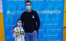 Candela Peña se proclama campeona en kumite en el campeonato de España Infantil