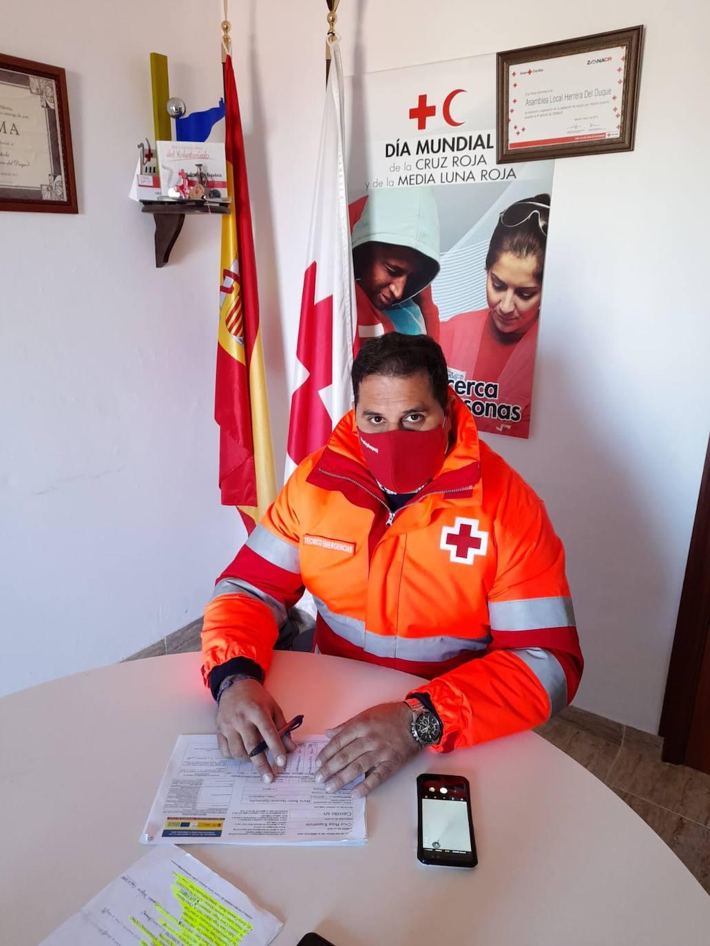 Francisco J. Gutiérrez, Presidente Asamble Cruz Roja Herrera: «Durante esta situación se han realizado unas 250 intervenciones con familias de toda la comarca de la Siberia»