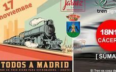 El Ayuntamiento pondrá autobuses para ir a Madrid y Cáceres a la manifestaciones del tren