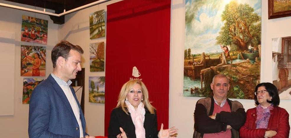 Rosa María Rodríguez expone óleos en el Museo del Pimentón