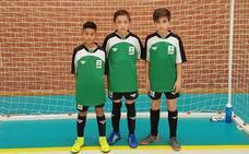 Los jaraiceños Fidel, Alejandro y Diego disputarán el Campeonato de España Alevín de Fútbol Sala