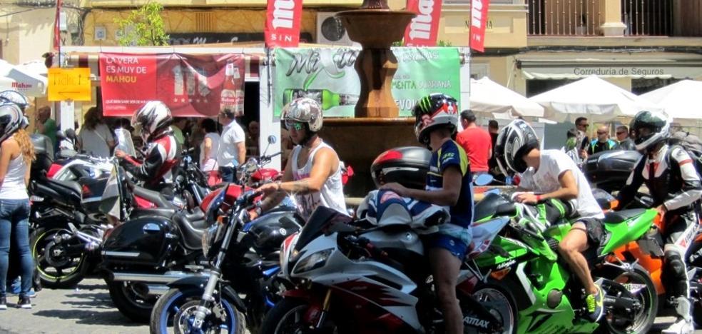 Una ruta por la zona pone fin a la concentración de motos