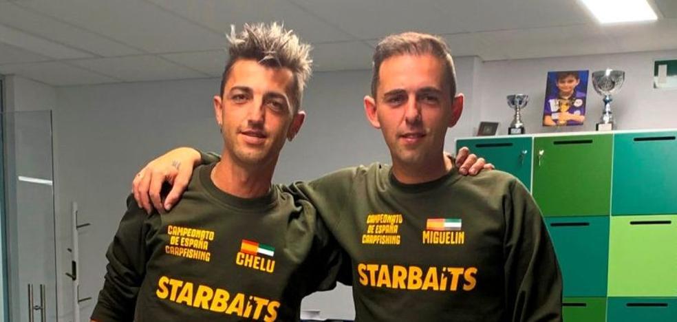 Miguel y José Luis Villalobos participan en el Campeonato de España de Carpfishing