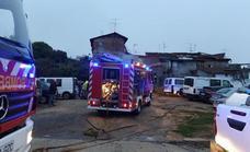 Se quema una casa en la calle Rincón