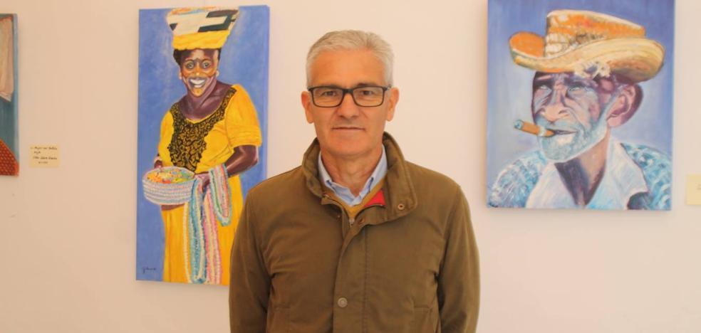 Ya se puede visitar la exposición del pintor jerezano Guillermo Larrasa en la sala 'Francisco Benavides'