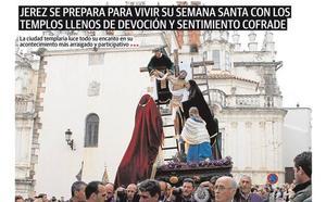El nº 79 de HOY Jerez sale a la calle con el protagonismo de la Semana Santa en su portada