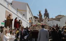 La procesión del Resucitado pone un gran broche a una Semana Santa trastocada por el mal tiempo