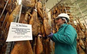 La exportación de jamones a Asia aumentó un 38% el año pasado