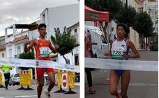 Francisco Cáceres y Carla Arce, ganadores de la IX Carrera Popular