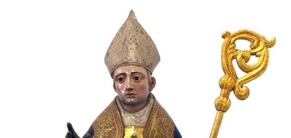 La talla de San Martín luce en todo su esplendor tras ser restaurada
