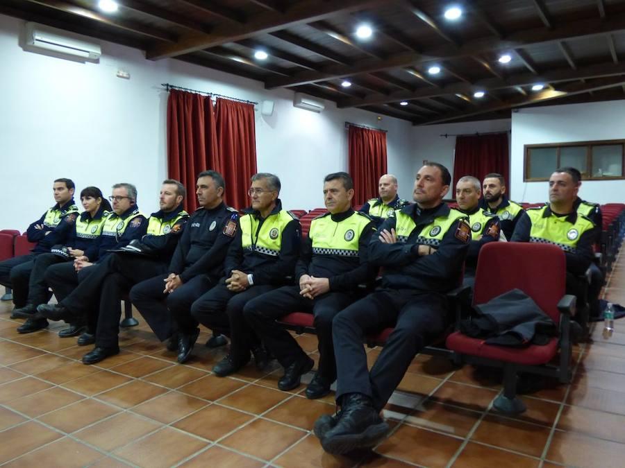 Los policías locales del Sur de Extremadura acuden a Llerena para formarse