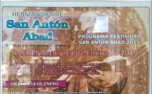 Programa de para la festividad de San Antón Abad 2019