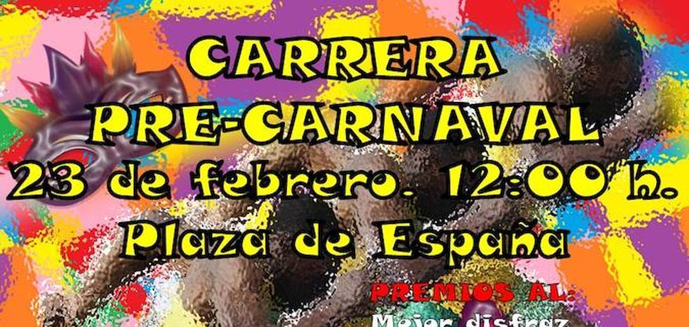 Carrera Pre- Carnaval el 23 de febrero a las 12:00 en la Plaza de España