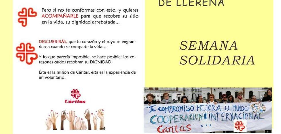 Cáritas Parroquial comienza el 26 de mayo su semana solidaria