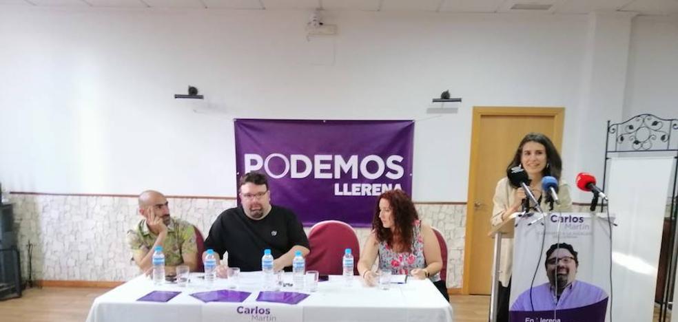 Podemos Llerena realiza su acto de Campaña junto a Irene de Miguel