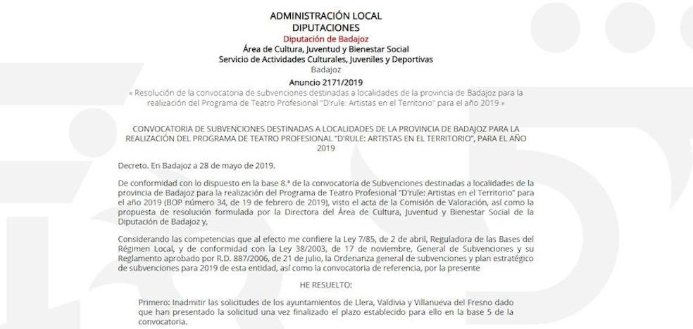 Subvención para el teatro profesional de 2.500.000 euros