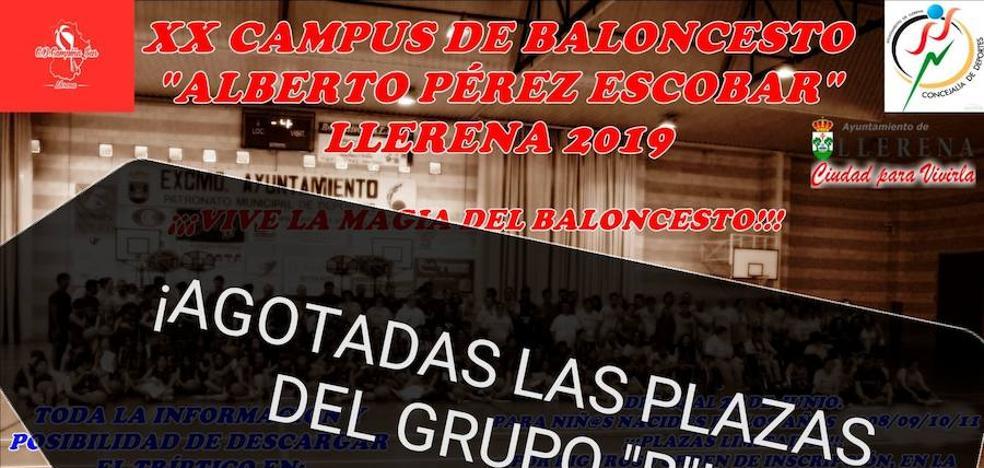 Finalizado el plazo de inscripción en el XX Campus de Baloncesto 'Alberto Pérez Escobar'