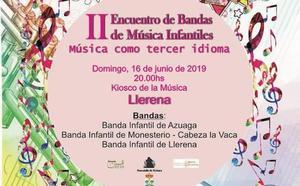 II Encuentro de Bandas de Música Infantiles, el domingo 16