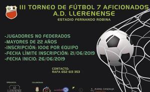 Abiertas las inscripciones del III Torneo de Fútbol 7 para aficionados