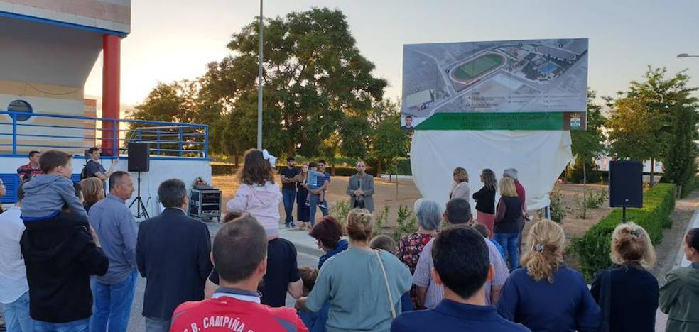 Inaugurado el cartel de las pistas deportivas Antonio de la Rosa 'Toy'