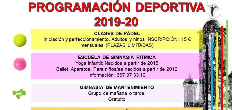 Programación deportiva 2019 -2020