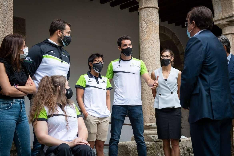 Álvaro Martín asiste a la recepción oficial de Fernández Vara a los olímpicos y paralímpicos extremeños