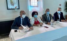 El secretario general de Reto Demográfico, Francesc Boya, se reúne en Llerena con los alcaldes de la Campiña Sur