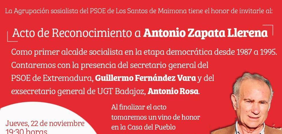 El que fuera alcalde de Los Santos,Antonio Zapata, recibe un homenaje