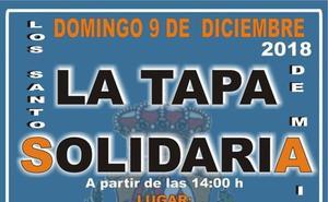Este domingo desde las dos de la tarde la 'tapa solidaria'