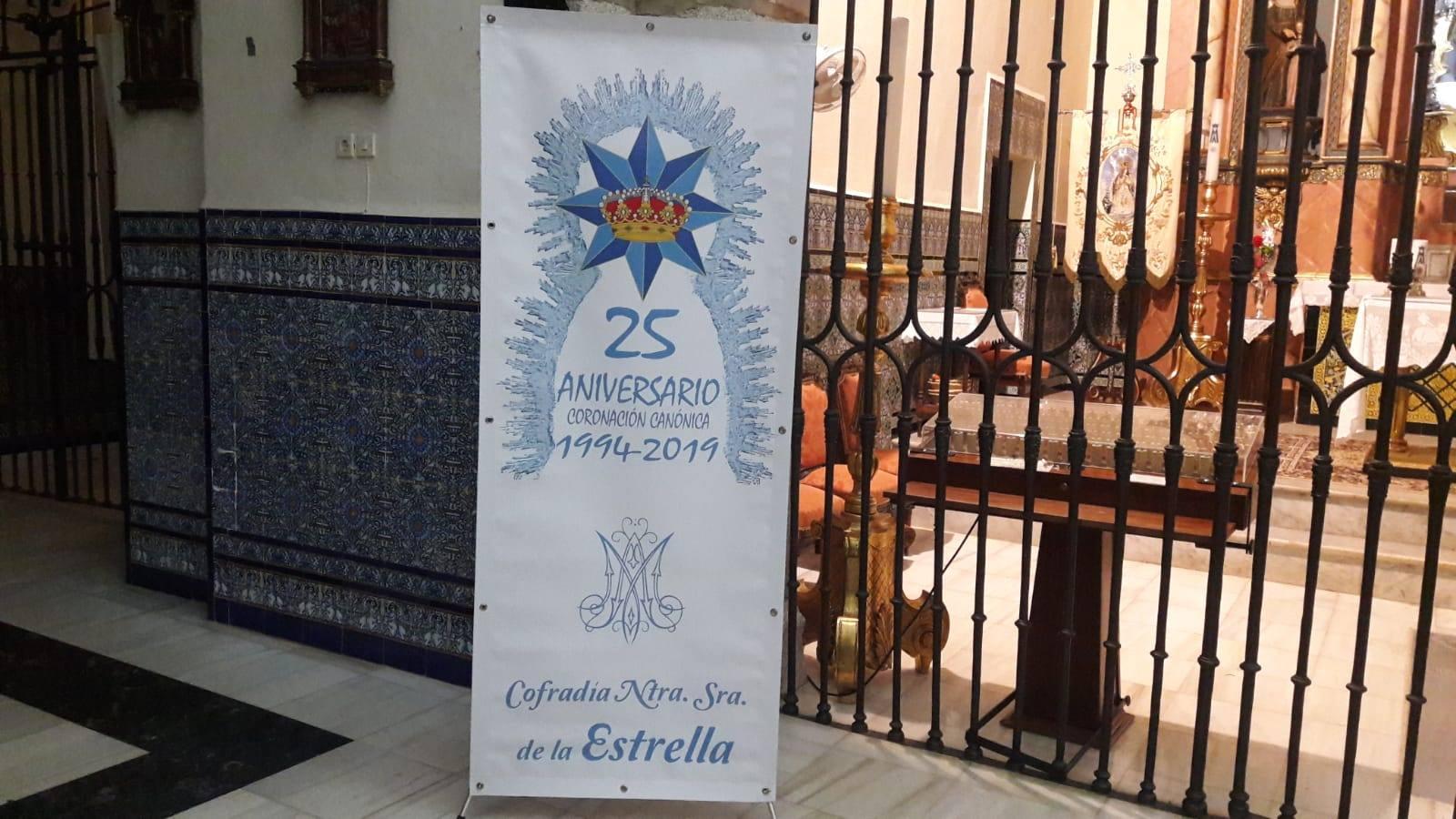 Colocados los logotipos conmemorativos de los 25 años de la coronación de la Virgen