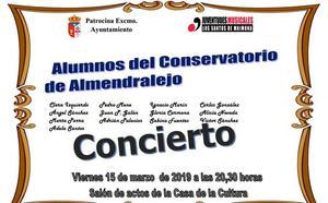 Este viernes concierto de alumnos del Conservatorio de Almendralejo