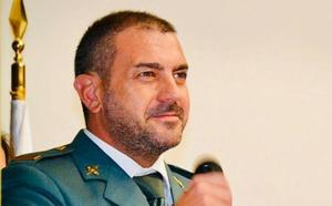 Alberto González Blanco, cabo primero de la Guardia Civil, se traslada del Puesto de Los Santos tras 10 años de servicio en él