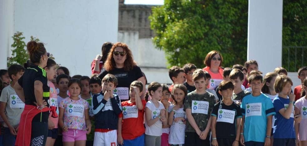 Los alumnos del Juan Blanco corrieron contra el hambre en el mundo