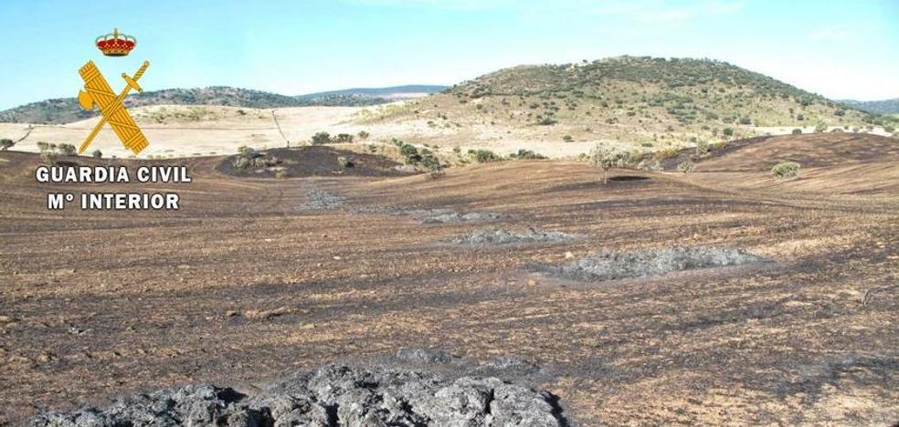 Un vecino de Los Santos supuesto autor de un incendio en el termino de Zafra