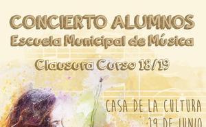 Hoy miercoles clausura de curso de la Escuela de Música con un concierto