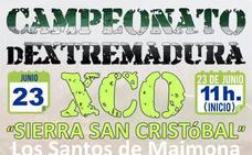 La sierra de san Cristóbal acoge el campeonato de Extremadura XCO