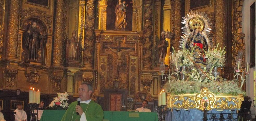 Muy solemne el tercer día del quinario a la Virgen de la Estrella oficiado por José Antonio Sequeda
