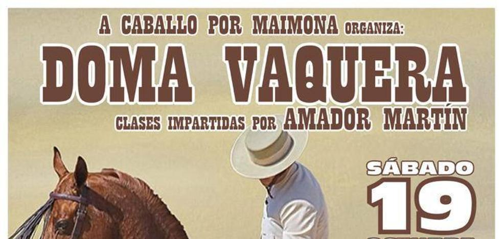 Este sábado la asociación 'A caballo por Maimona' organiza una clase de doma vaquera